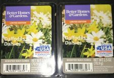 2  BETTER HOMES & GARDENS Wax Melts DAFFODILS & DAISIES 2.5 Oz Each