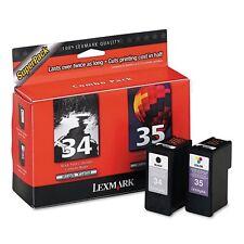 Lexmark 34 Black & 35 Color Print Cartridge Super Pack - 18C0535