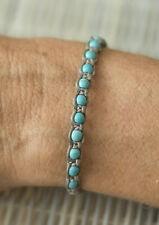 Bracelet brésilien amitié gris perles bleu turquoise Surfer - 111 -FS3