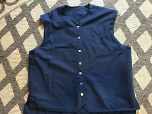 Colonial 18th Century Rev War Williamsburg 1700s Waistcoat Vest Cotton