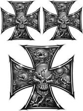 SKULL IRONCROSS - DECAL SET OF 3 - DECALS