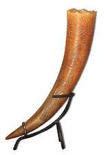 Trinkhorn Methorn Met Horn 40 cm mit Ornamenten Wikinger Mittelalter LARP