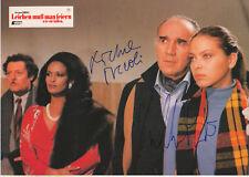 Michel Piccoli & Ornella Muti Autogramme signed 20x30 cm Kinoaushangbild