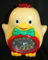 "Vintage Gran Prix Chicken Rooster Alarm Clock AM Radio Beak Moves! 7"" tall WORKS"