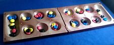 The Ancient African Game Of Mancala, Folding Board Game With 48 Pieces see video