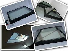 Flat Roof Skylight Window Double Glazed Complete W/ Black Upstand 1000 x 1000mm
