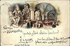 1899 Gruss aus HAMBURG Raths-Weinkeller Zur bunten Kuh gelaufen nach Schafflund
