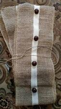 "NWT 6"" x 10'  Natural Burlap Rusty Jingle Bells Rustic Christmas Garland Ribbon"