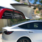 For Tesla Model 3 Glossy Carbon Fiber Trunk Spoiler Trunk Lip Spoiler Tail Wing