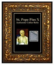 Catholic POPE PIUS X Relic Holy reliquary SAINT CHARITY Collar Personal Medal