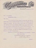 1909 ANTIQUE LETTERHEAD - MINNEAPOLIS MN - CORRESPONDENCE INSTITUTE misc4201
