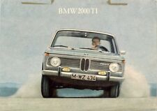 BMW 2000 Ti Saloon 1966-67 UK Market Leaflet Sales Brochure