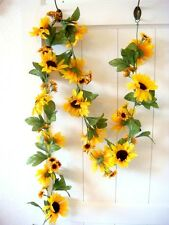 Blumenranke Sonnenblume Seidenblumen Kunstblumen Blumen Girland Hause Deko 260cm