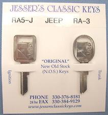 Very Rare Orignal Jeep / AMC Keys NOS J Blank 1985 1986 1987 1988 1989 1990 RA5