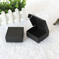 100x Black Gift Packing Boxes Wedding Anniversary Party Favor Boxes 7.5x7.5x3cm