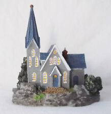 """Thomas Kinkade """"Chapel"""" Custom Painted by Pizzazz-One of a Kind Piece"""