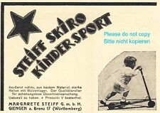 Steiff Knopf im Ohr Kinder Roller Reklame von 1925 Skiro Tretroller Werbung +