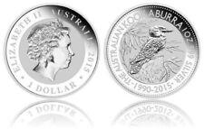 RULLO SIGILLATO X 20 1 OZ (ca. 28.35 g) 2015 silver Kookaburra 25th 999 BELLE MONETE Anniversary