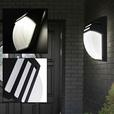Esterno Lampada da Parete Nero Casa Porta Illuminazione Alu Faretto Veranda Glas
