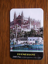 PALMA CATHEDRAL & HARBOUR RECHARGEABLE PHONE&SAVE 1000 Ptas Int Call Card USED
