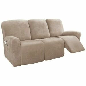 1/2/3 Seater Recliner Chair Cover Sofa Suede Slipcover Lazy Boy Arm Chair Decor
