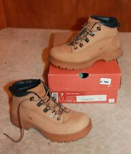 NIKE Ladies Sz 7 AIR KARST Z WORK BOOTS (tan w/ laces; All Conditions Gear) EUC