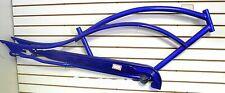 "26"" Stretch Beach Cruiser Steel Frame Bike Bicycle Micargi Mustang Blue"