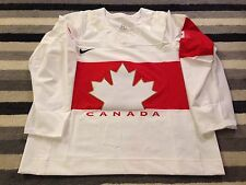 TEAM CANADA NIKE AUTHENTIC IIHF PRO 2014 OLYMPICS WHITE HOCKEY JERSEY 58 NIB