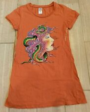 Ed Hardy Orange Fitted T-Shirt *Size Small*