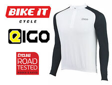 NEW EIGO TEMPEST CYCLING JERSEY - LONG SLEEVE WHITE - MTB ROAD BIKE CYCLE