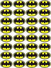 32 x Batman Logo Edible Rice Wafer Paper Cupcake Birthday Cake Cookie Toppers