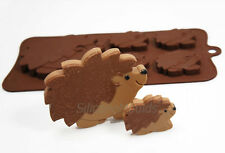 4+1 Hedgehog Silicone Mould Animal Chocolate Candy Bar Lolly Resin Wax Melt Soap