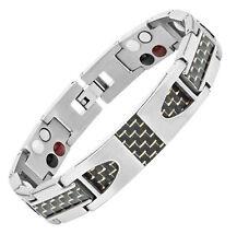 Unisex 4in1 Titanium & Carbon Fibre Magnetic Bracelet ARTHRITIS PAIN RELIEF