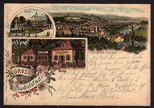 73323 AK Rudolstadt litho Anger Gasthaus Gute Quelle 1902