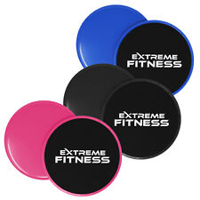 2 x Gliding Discs Core Sliders Dual Sided Fitness Home Gym Abs Exercise Workouts