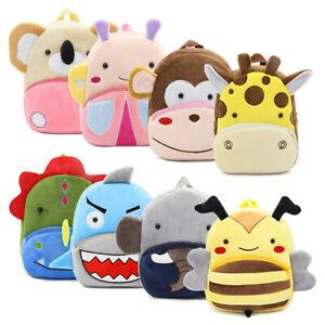 Toddler Kids Boys Girl Cartoon Animal Plush Backpack Rucksack Nursery School Bag