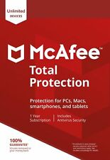 McAfee Total Protection 2019, UN-LIMITED Multi-Devices, 1Year (DOWNLOAD VERSION)