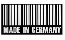 White Useful MADE IN GERMANY BARCODE Vinyl DECAL STICKER For Auto Car/Van/Laptop