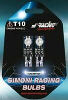 2 Lampadine Led RGB T10 Multicolor Luce fissa e Strobo 23 Effetti Simoni Racing