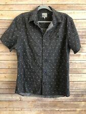 Wesc Mens Short Sleeve Button Down Skater Shirt Size Large