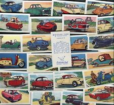 """EWBANKS 1960 SET OF 25 """"MINIATURE CARS & SCOOTERS"""" TRADE CARDS"""