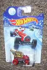 "Hot Wheels Walmart exclusive 2014 Holiday Hot Rods ""DRAGGIN' WAGON"" 8/8  X-MAS"