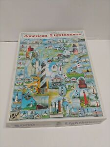 American Lighthouses 1000 Piece Jigsaw Puzzle