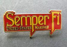 US MARINES SEMPER FI VETERAN USMC MARINE CORPS LAPEL PIN BADGE 1.5 X .5 INCHES