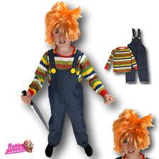 KIDS BOYS CHILDS HORROR CHUCKY DOLL HALLOWEEN FANCY DRESS CHILD COSTUME PLAY