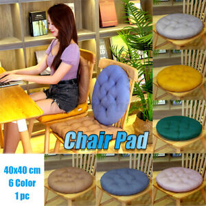 40X40cm Round Soft Cotton Chair Seat Pillow Cushion Cover Sofa Office Home New
