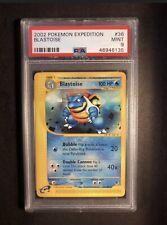 Pokemon PSA 9 Expedition Blastoise 36 Mint 2002 WOTC