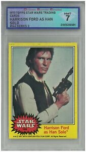 1977 Topps Star Wars Trading Cards HARRISON FORD AS HAN SOLO #144 💎 DSG 7