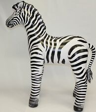 Large  Inflatable Zebra  -  30in.H . Top Quality and Lifelike. Great For Kids