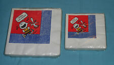 vintage Ambassador PEANUTS PARTY NAPKINS Snoopy Charlie Brown SEALED PACKAGES x2